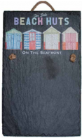 Slate Memo Chalk Board - 'Beach Huts'